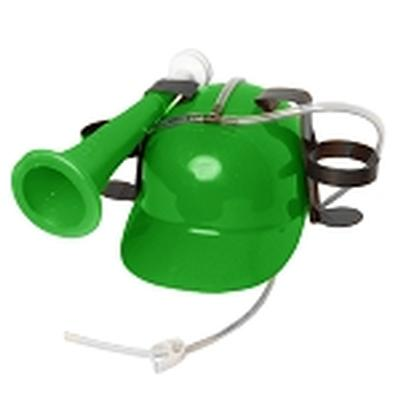 Click to get Drinking Helmet with Horn Green