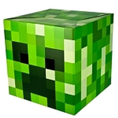 Click to get Minecraft Creeper Box Head Mask