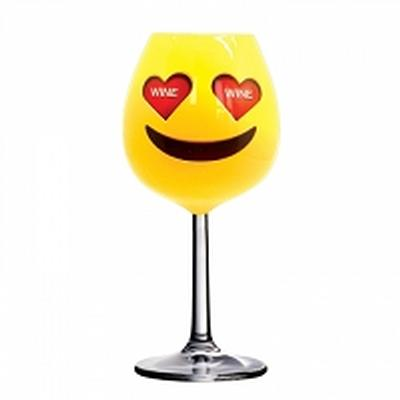 Click to get XL Emoji Wine Glass