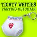 Tighty Whities Farting Keychain